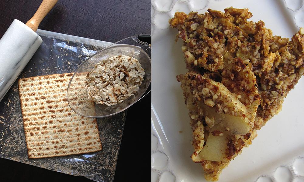 Recipe for Matzah Charlotte, an apple Passover dessert