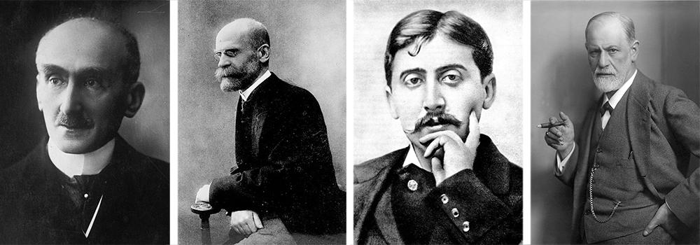 Henri Bergson, Émile Durkheim, Marcel Proust and Sigmund Freud.
