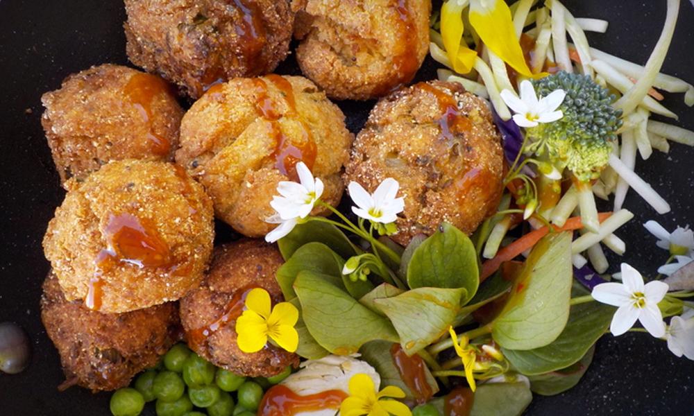Pan-fried Buttermilk Dandelion Blossom Fritters