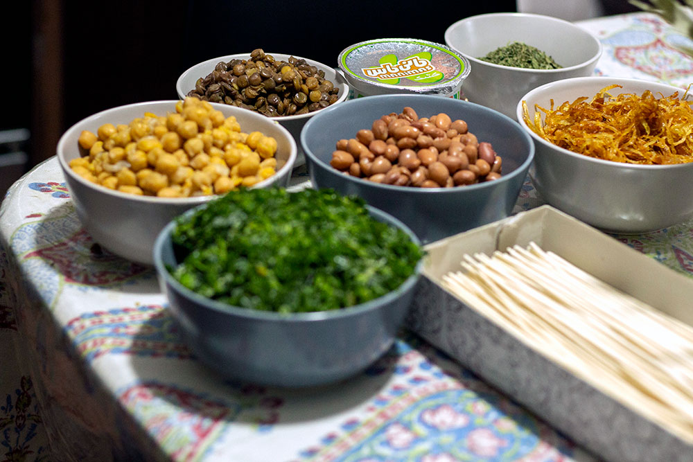 Beans Noodles and Greens for Ash Reshteh Soup