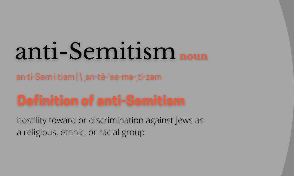 working definition of anti-Semitism